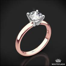 18k Rose Gold Promettre Solitaire Engagement Ring with White Gold Head | Whiteflash