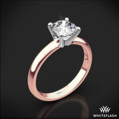 80a539b64 18k Rose Gold Promettre Solitaire Engagement Ring with White Gold Head &  Whiteflash & 41792