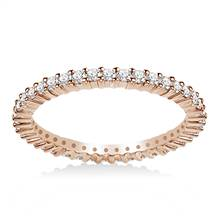 18K Rose Gold Prong-Set Diamond Eternity Ring For Ladies Diamond Band (0.53 - 0.62 cttw.) | B2C Jewels