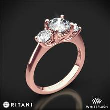 18k Rose Gold Ritani 1RZ1015P Three Stone Engagement Ring | Whiteflash