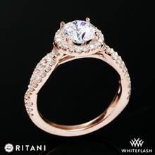 18k Rose Gold Ritani 1RZ1318  Diamond Engagement Ring | Whiteflash