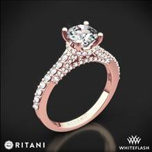 18k Rose Gold Ritani 1RZ1320 French-Set Diamond Engagement Ring | Whiteflash