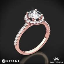 18k Rose Gold Ritani 1RZ1323 French-Set Halo Diamond Engagement Ring | Whiteflash