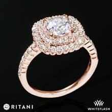 18k Rose Gold Ritani 1RZ1336  Diamond Engagement Ring | Whiteflash