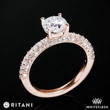 18k Rose Gold Ritani 1RZ1340  Diamond Engagement Ring | Whiteflash