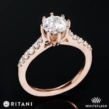 18k Rose Gold Ritani 1RZ1345  Diamond Engagement Ring | Whiteflash