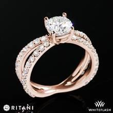 18k Rose Gold Ritani 1RZ1348  Diamond Engagement Ring | Whiteflash