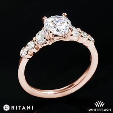 18k Rose Gold Ritani 1RZ1508  Diamond Engagement Ring