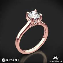18k Rose Gold Ritani 1RZ2465 Surprise Diamond Solitaire Engagement Ring | Whiteflash