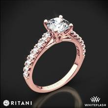 18k Rose Gold Ritani 1RZ2489 French-Set Diamond Engagement Ring | Whiteflash