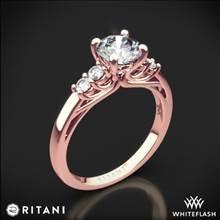 18k Rose Gold Ritani 1RZ2716 Trellis Five-Stone Diamond Engagement Ring | Whiteflash