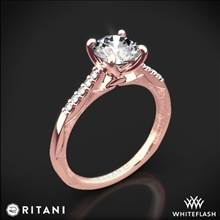 18k Rose Gold Ritani 1RZ2841 Modern French-Set Diamond Engagement Ring | Whiteflash