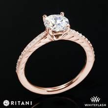 18k Rose Gold Ritani 1RZ2851  Diamond Engagement Ring | Whiteflash