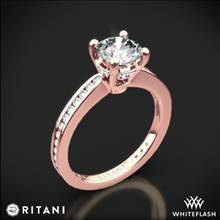 18k Rose Gold Ritani 1RZ3447 Tapered Channel-Set Diamond Engagement Ring | Whiteflash