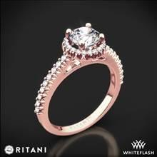 18k Rose Gold Ritani 1RZ3705 French-Set Halo Diamond Engagement Ring   Whiteflash
