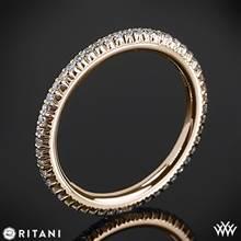 18k Rose Gold Ritani 33700 Open Micropave Eternity Diamond Wedding Ring | Whiteflash
