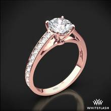 18k Rose Gold Serendipity Diamond Engagement Ring | Whiteflash