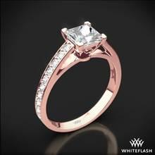18k Rose Gold Serendipity Diamond Engagement Ring for Princess | Whiteflash