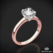 18k Rose Gold Sierra Solitaire Engagement Ring with White Gold Head | Whiteflash