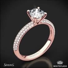 18k Rose Gold Simon G. LP1935-D Delicate Diamond Engagement Ring | Whiteflash