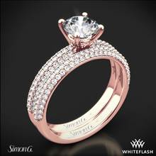 18k Rose Gold Simon G. LP1935-D Delicate Diamond Wedding Set | Whiteflash