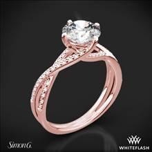 18k Rose Gold Simon G. MR1394 Fabled Diamond Engagement Ring | Whiteflash