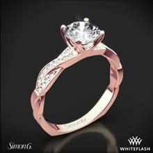 18k Rose Gold Simon G. MR1498-D Delicate Diamond Engagement Ring   Whiteflash