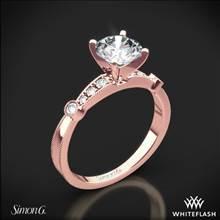 18k Rose Gold Simon G. MR1546-D Delicate Diamond Engagement Ring | Whiteflash
