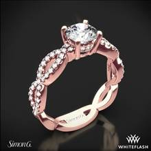 18k Rose Gold Simon G. MR1596 Fabled Diamond Engagement Ring | Whiteflash