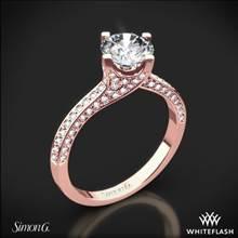 18k Rose Gold Simon G. MR1609 Caviar Diamond Engagement Ring | Whiteflash