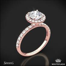 18k Rose Gold Simon G. MR1811 Passion Halo Diamond Engagement Ring | Whiteflash