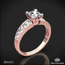 18k Rose Gold Simon G. MR1825-S Caviar Diamond Engagement Ring for Princess | Whiteflash