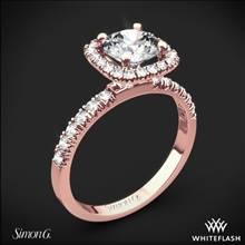 18k Rose Gold Simon G. MR2132 Passion Halo Diamond Engagement Ring | Whiteflash