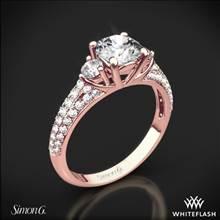 18k Rose Gold Simon G. MR2208 Caviar Three Stone Engagement Ring   Whiteflash