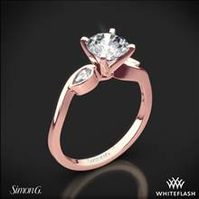 18k Rose Gold Simon G. MR2342 Dutchess Three Stone Engagement Ring | Whiteflash
