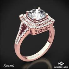 18k Rose Gold Simon G. MR2378-A Passion Double Halo Diamond Engagement Ring | Whiteflash