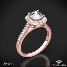 18k Rose Gold Simon G. MR2395 Passion Halo Diamond Engagement Ring | Whiteflash