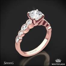 18k Rose Gold Simon G. MR2399 Passion Diamond Engagement Ring | Whiteflash