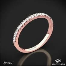 18k Rose Gold Simon G. MR2459 Passion Diamond Wedding Ring | Whiteflash