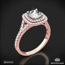 18k Rose Gold Simon G. MR2459 Passion Halo Diamond Engagement Ring | Whiteflash