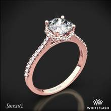 18k Rose Gold Simon G. MR2478 Caviar Diamond Engagement Ring | Whiteflash