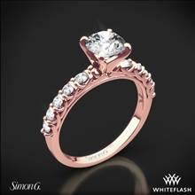 18k Rose Gold Simon G. MR2492 Caviar Diamond Engagement Ring | Whiteflash