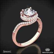 18k Rose Gold Simon G. MR2533 Passion Diamond Halo Engagement Ring | Whiteflash