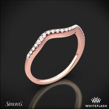 18k Rose Gold Simon G. MR2549 Fabled Diamond Wedding Ring