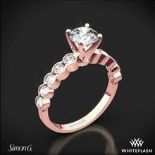 18k Rose Gold Simon G. MR2566 Caviar Diamond Engagement Ring | Whiteflash