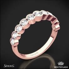 18k Rose Gold Simon G. MR2566 Caviar Diamond Wedding Ring | Whiteflash