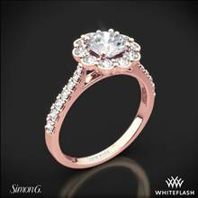 18k Rose Gold Simon G. MR2573 Passion Halo Diamond Engagement Ring | Whiteflash