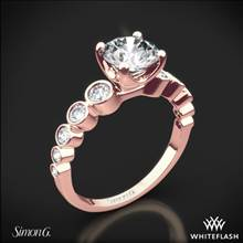 18k Rose Gold Simon G. MR2692 Caviar Diamond Engagement Ring   Whiteflash