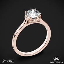 18k Rose Gold Simon G. MR2945 Solitaire Engagement Ring | Whiteflash