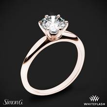 18k Rose Gold Simon G. MR2948 Solitaire Engagement Ring | Whiteflash
